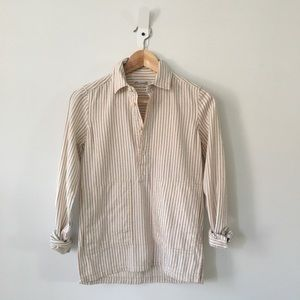 Madewell Striped Pocket Popover Shirt